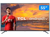 """Smart TV 4K LED 55"""" TCL 55P8M Android Wi-Fi - Bluetooth HDR Inteligência Artificial 3 HDMI 2 USB"""