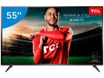"Smart TV 4K LED 55"" TCL P65US Wi-Fi HDR - Conversor Digital 3 HDMI 2 USB"