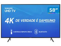 """Smart TV 4K LED 58"""" Samsung UN58RU7100 - Wi-Fi HDR 3 HDMI 2 USB"""