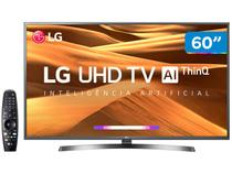 "Smart TV 4K LED 60"" LG 60UM7270PSA Wi-Fi HDR - Inteligência Artificial Controle Smart Magic"