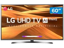 "Smart TV 4K LED 60"" LG 60UM7270PSA Wi-Fi HDR - Inteligência Artificial Conversor Digital 3 HDMI"