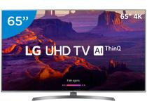 "Smart TV 4K LED 65"" LG 65UK6540 Wi-Fi HDR - Inteligência Artificial Conversor Digital 4 HDMI"