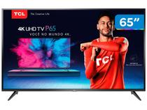 "Smart TV 4K LED 65"" TCL P65US Wi-Fi HDR - 3 HDMI 2 USB"