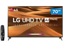 "Smart TV 4K LED 70"" LG 70UM7370PSA Wi-Fi  - Inteligência Artificial Controle Smart Magic"