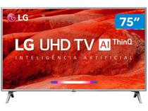 "Smart TV 4K LED 75"" LG 75UM7510PSB Wi-Fi HDR  - Inteligência Artificial 4 HDMI 2 USB"