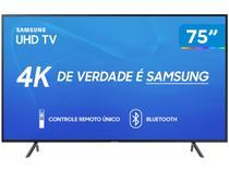 """Smart TV 4K LED 75"""" Samsung UN75RU7100 Wi-Fi - HDR 3 HDMI 2 USB"""