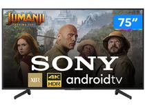 "Smart TV 4K LED 75"" Sony XBR-75X805G Android Wi-Fi - HDR Inteligência Artificial Conversor Digital"