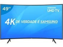 "Smart TV 4K LED Curva 49"" Samsung NU7300 Wi-Fi - Conversor Digital 3 HDMI 2 USB"