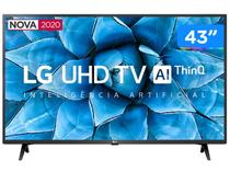 "Smart TV 4K LED IPS 43"" LG 43UN7300PSC Wi-Fi - Bluetooth Inteligência Artificial 3 HDMI 2 USB"