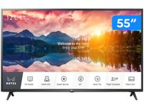 "Smart TV 4K LED IPS 55"" LG Hotel Pro: Centric - 55US660H0SD.BWZ Wi-Fi Bluetooth 3 HDMI 2 USB"