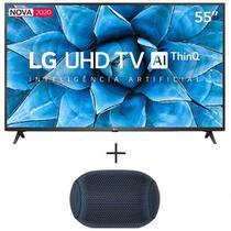 """Smart TV 4K LG LED 55"""" Controle Smart Magic Wi-Fi - 55UN7310PSC + Caixa de Som LG XBOOM Go Portatil Potencia 5 W - PL2 -"""