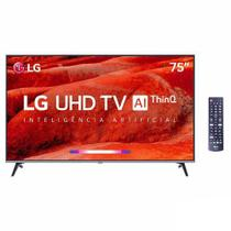"Smart TV 4K LG LED 75"" Google Assistant, Home Dashboard e Wi-fi -  75UM7510PSB -"
