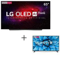 Smart TV 4K LG OLED AI 65 com Cinema HDR - OLED65CXPSA + Smart TV LG LED 4K 50