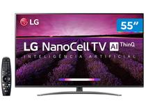 "Smart TV 4K NanoCell 55"" LG 55SM8100PSA Wi-Fi - Inteligência Artificial Controle Smart Magic"