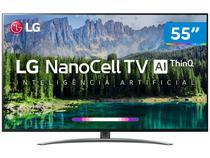 "Smart TV 4K NanoCell 55"" LG 55SM8600PSA Wi-Fi HDR - Inteligência Artificial Conversor Digital 4 HDMI"