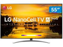 "Smart TV 4K NanoCell 55"" LG 55SM9000PSA Wi-Fi - Inteligência Artificial Controle Smart Magic"