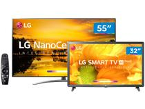 "Smart TV 4K NanoCell 55"" + Smart TV HD LED 32"" LG - Wi-Fi Inteligência Artificial Controle Smart Magic"