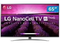 "Smart TV 4K NanoCell 65"" LG 65SM8100PSA Wi-Fi - Inteligência Artificial Controle Smart Magic"