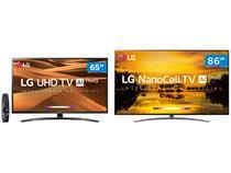 "Smart TV 4K NanoCell 86"" LG 86SM9070PSA Wi-Fi  - Inteligência Artificial + Smart TV 4K LED IPS 65"""