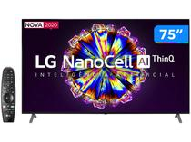 "Smart TV 4K NanoCell IPS 75"" LG 75NANO90SNA - Wi-Fi Bluetooth HDR Inteligência Artificial 4 HDMI"