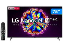 "Smart TV 4K NanoCell IPS 75"" LG 75NANO90SNA - Wi-Fi Bluetooth HDR Inteligência Artificial 4 HDMI"