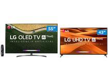 "Smart TV 4K OLED 55"" LG OLED55B9PSB Wi-Fi  - HDR Inteligência Artificial + Smart TV 4K LED 43"""
