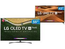 """Smart TV 4K OLED 55"""" LG OLED55B9PSB Wi-Fi  - HDR + Smart TV 4K LED 43"""" LG 43UM7300PSA Wi-Fi HDR"""