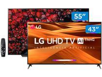 """Smart TV 4K OLED 55"""" LG OLED55C9PSA Wi-Fi HDR - 4 HDMI 3 USB + Smart TV 4K LED 43"""" 43UM7300PSA"""