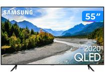 "Smart TV 4K QLED 55"" Samsung Q60TA Wi-Fi Bluetooth - Pontos Quânticos Alexa Built In Modo Ambiente"