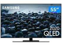 """Smart TV 4K QLED 55"""" Samsung Q80TA Alexa Built In - Pontos Quânticos Modo Game Som em Movimento"""