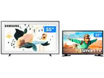 "Smart TV 4K QLED 55"" Samsung The Frame Wi-Fi - Bluetooth + Smart TV LED 32"" Wi-Fi HDR"
