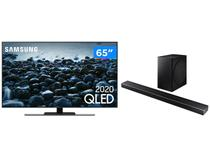 "Smart TV 4K QLED 65"" Samsung 65Q80TA - Wi-Fi Bluetooth + Soundbar com Subwoofer Wireless"
