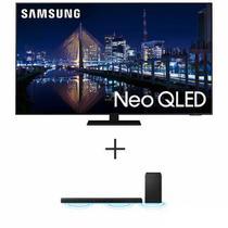 """Smart TV 4K Samsung Neo QLED 55"""" Alexa Built in - QN55QN85AAGXZD + Soundbar Samsung com 3.1.2 Canais, 360W - HW-Q600A/ZD -"""