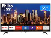 "Smart TV 4K UHD D-LED 55"" Philco PTV55Q20SNBL - Wi-Fi HDR 3 HDMI 2 USB"