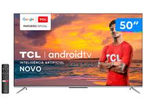 "Smart TV 4K UHD LED 50"" TCL 50P715 Android Wi-Fi - Bluetooth 3 HDMI 2 USB"