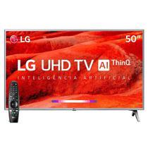 """Smart TV 50"""" LG 50UM7500PSB 4K com Wi-Fi, 2 USB, 4 HDMI, ThinQ AI e 60Hz -"""