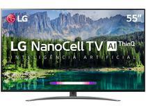"Smart TV 55"" 4K LG 55SM8600PSA HDR ThinQ AI 4 HDMI 3 USB Wi-Fi -"