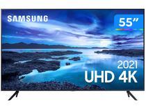"""Smart TV 55"""" Crystal 4K Samsung 55AU7700 - Wi-Fi Bluetooth HDR Alexa Built in 3 HDMI 1 USB"""