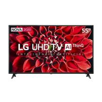 "Smart TV 55"" LED LG 55UN7100PSA 4K ThinQ Al Ultra HD 4 HDMI, 2 USB e 60Hz -"
