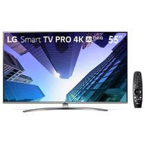 """Smart TV 55"""" LG PRO, Ultra HD, Wi-Fi, Bluetooth, DTS Virtual X, 4K HDR, 4 HDMI, 2 USB - 55UM761C0SB - Lg Eletronics"""