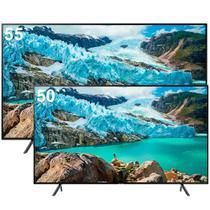 "Smart TV 55"" Samsung UN55RU7100GXZD 4K + Smart TV 50"" Samsung UN50RU7100GXZD 4K -"