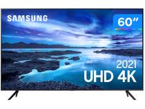 "Smart TV 60"" 4K Crystal Samsung UN60AU7700GXZD - VA 60Hz Wi-Fi Bluetooth Google Assiste 3 HDMI"