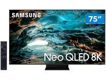 """Smart TV 75"""" 8K NEO QLED Mini Led Samsung 75QN800A - 120hz Som em Movimento Plus Única Conexão"""