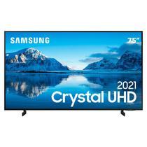 "Smart TV 75"" Crystal UHD 4K Samsung 75AU8000, Painel Dynamic Crystal Color, Design slim, Tela sem limites, Visual Livre de Cabos, Alexa built in -"