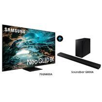 """Smart TV 75"""" Neo QLED 8K 75QN800A + Soundbar Samsung HW-Q800A -"""