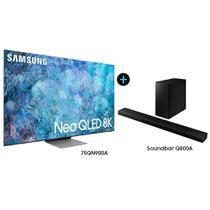 """Smart TV 75"""" Neo QLED 8K 75QN900A e Soundbar Samsung HW-Q800A -"""
