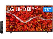"Smart TV 75"" Ultra HD 4K LED LG 75UP8050PSB - 60Hz Wi-Fi e Bluetooth Alexa 4 HDMI 2 USB"
