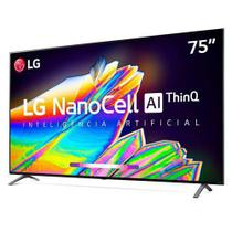 "Smart TV 8K LG LED 75"" com IPS NanoCell, Dolby Atmos e Wi-Fi - 75NANO95SNA -"