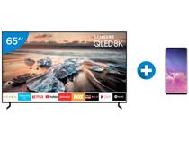 "Smart TV 8K QLED 65"" Samsung QN65Q900RB - HDR 3000 + Smartphone Galaxy S10 128GB Preto"