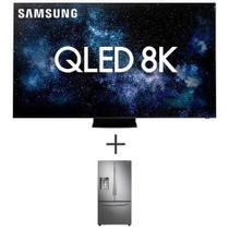 "Smart TV 8K Samsung QLED 75"" Wi-Fi - QN75Q950TSGXZD + Refrigerador Samsung 3 Portas FF 536L 110V Inox - RF23R6201SR/AZ -"